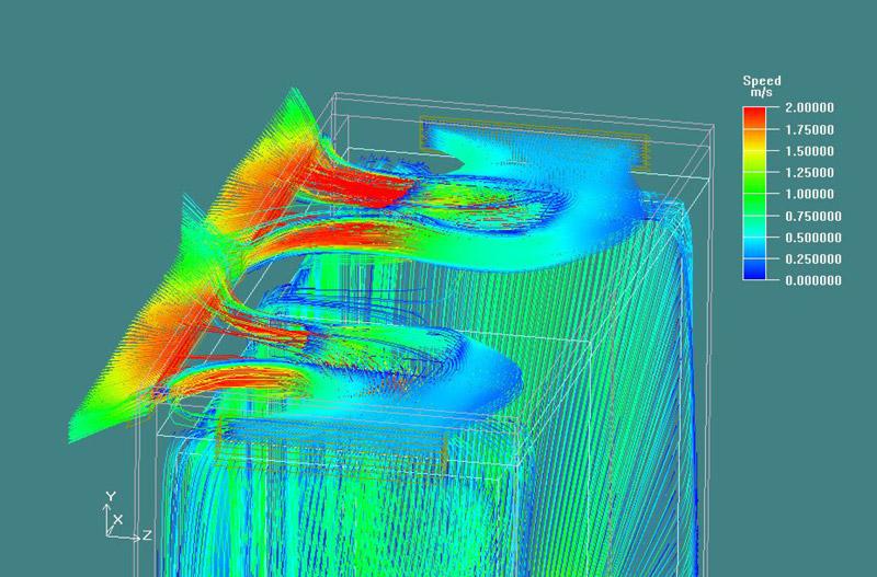 Strömungssimulation eines Radiallüfters